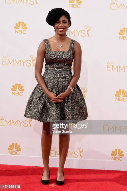 Actress Jessica Williams attends the 66th Annual Primetime Emmy Awards held at Nokia Theatre LA Live on August 25 2014 in Los Angeles California