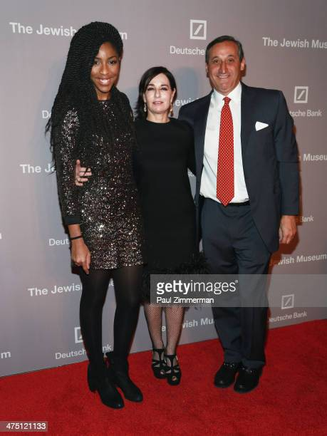 Actress Jessica Williams Claudia Gould and CEO North America Deutsche Bank Jacques Brand attend the Jewish Museum's Purim Ball 2014 at Park Avenue...
