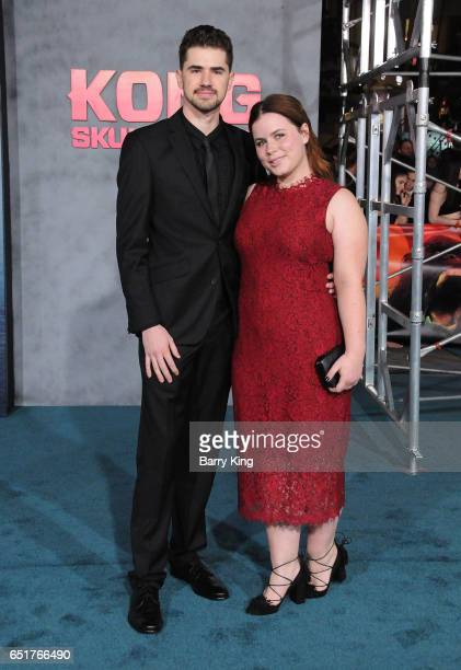 Actress Jessie Ennis and guest arrive for the Premiere of Warner Bros Pictures' 'Kong Skull Island' at Dolby Theatre on March 8 2017 in Hollywood...