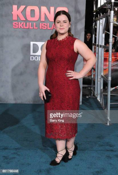 Actress Jessie Ennis arrives for the Premiere of Warner Bros Pictures' 'Kong Skull Island' at Dolby Theatre on March 8 2017 in Hollywood California