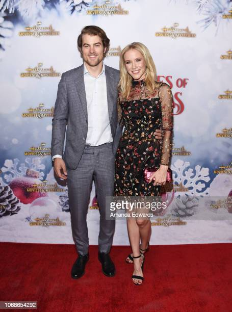 Actress Jessy Schram arrives at the Hallmark Channel 'Once Upon A Christmas Miracle' screening and holiday party at 189 by Dominique Ansel on...