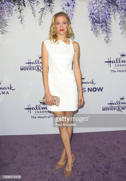 Actress Jessy Schram attends the 2018 Hallmark Channel Summer TCA at Private Residence on July 26 2018 in Beverly Hills California