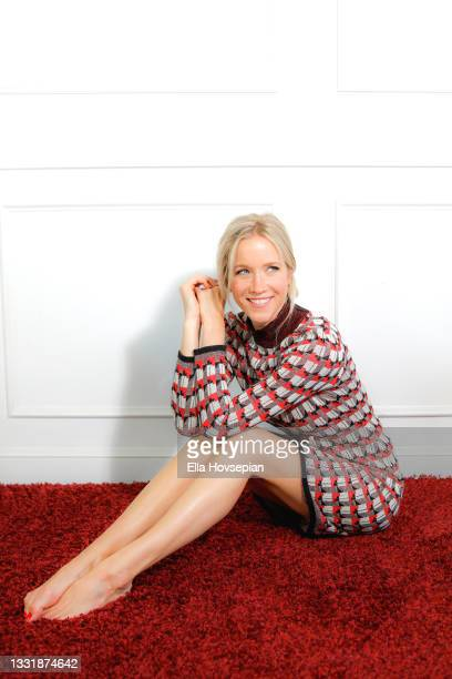 Actress Jessy Schram poses during a photo shoot on August 01, 2021 in Los Angeles, California.