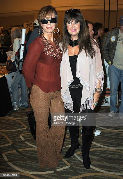 Actress Jewel Shepard and actress Caroline Munro attends The Hollywood Show held at The Westin Los Angeles Airport Hotel on Saturday October 5 2013...