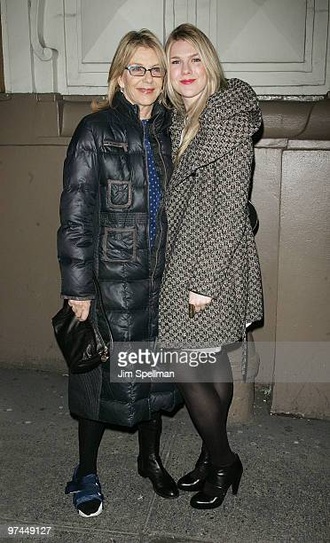 Actress Jill Clayburgh and daughter Lily Rabe attend the opening night of A Behanding In Spokane on Broadway at the Gerald Schoenfeld Theatre on...