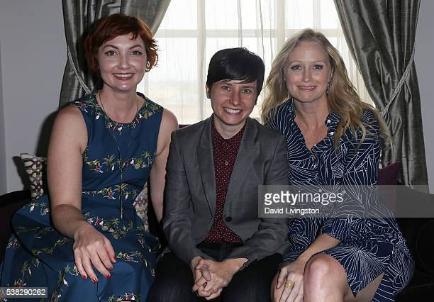 Actress Jill E Alexander director Melissa Finell and actress Anna Lise Phillips attend the 2016 Los Angeles Film Festival 'Sensitivity Training'...