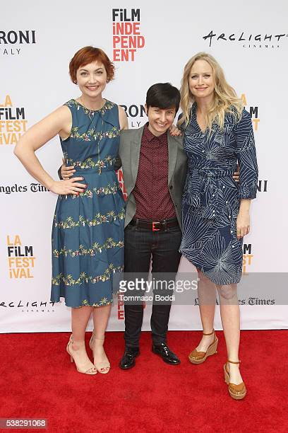 Actress Jill E Alexander director Melissa Finell and actress Anna Lise Phillips attend the premiere of 'Sensitivity Training' during the 2016 Los...