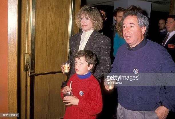 Actress Jill Eikenberry, actor Michael Tucker and son Max Tucker attend the Opening Night Performance of The Moscow Circus on March 14, 1990 at the...