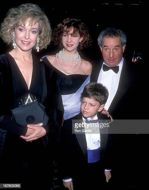 Actress Jill Eikenberry actor Michael Tucker daughter Alison Tucker and son Max Tucker attend the 47th Annual Golden Globe Awards on January 20 1990...