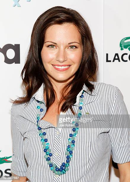 Actress Jill Flint arrives at the USA Network and Vanity Fair 'Royal Pains' Season Two kick off event at Lacoste Fifth Avenue Boutique on June 1 2010...