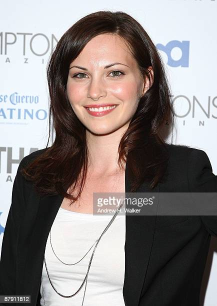 Actress Jill Flint attends Hamptons and Gotham Magazine's summer celebration with the cast of 'Royal Pains' at Hudson Terrace on May 21 2009 in New...