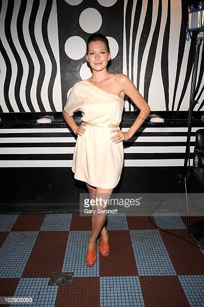 Actress Jill Flint attends the alice olivia by Stacey Bendet MAC Cosmetics collection launch at Beauty Bar on July 14 2010 in New York City