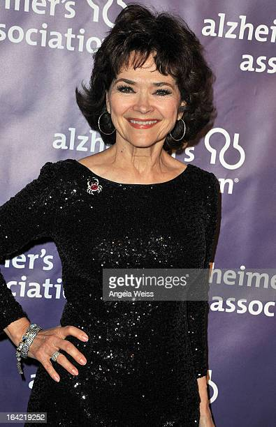 Actress Jill Gascoine arrives at the 21st Annual 'A Night At Sardi's' to benefit the Alzheimer's Association at The Beverly Hilton Hotel on March 20...