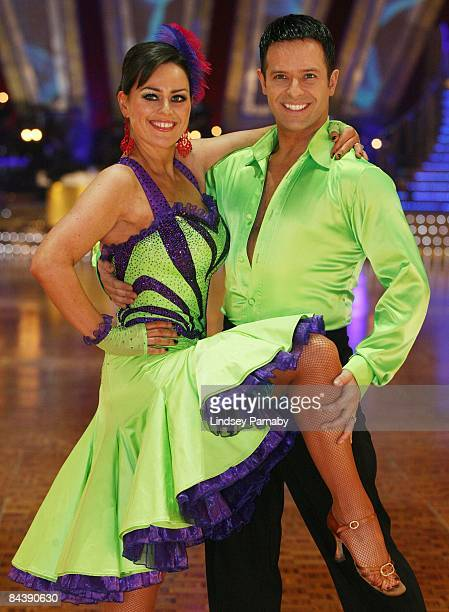 Actress Jill Halfpenny and her dance partner Darren Bennett pose during the BBC Strictly Come Dancing Live Tour 2009 photocall at the Manchester...