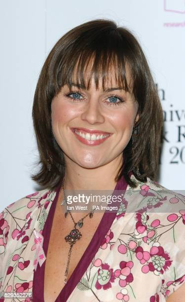 Actress Jill Halfpenny arrives for the 10th Anniversary Pink Ribbon Ball at The Dorchester Hotel in central London in aid of the Breast Cancer...