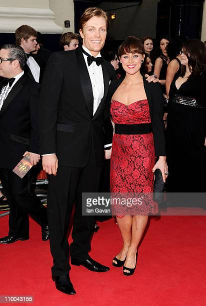 Actress Jill Halfpenny attends The Olivier Awards 2011 at Theatre Royal on March 13 2011 in London England