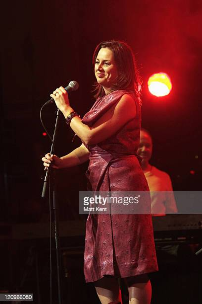 Actress Jill Halfpenny performs at the Teenage Cancer Trust Bandstand 2007 at The Sage September 22 2007 in Gateshead England