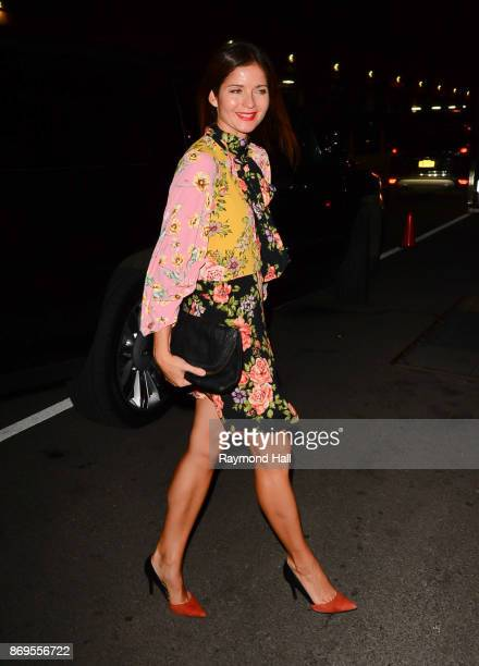 Actress Jill Hennessey is seen walking in Soho on November 2 2017 in New York City