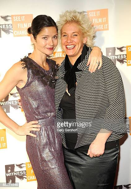 Actress Jill Hennessy and chef Anne Burrell attend the 4th Annual Focus for Change at Roseland Ballroom on November 20 2008 in New York City