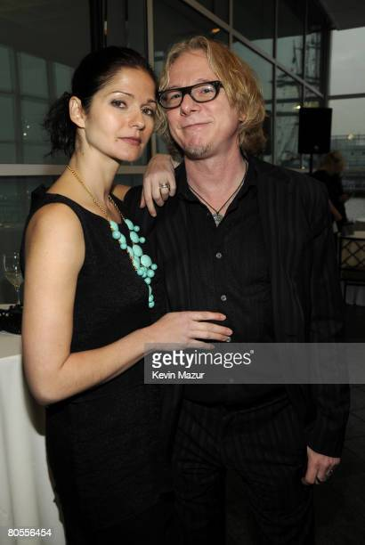 NEW YORK APRIL 07 Actress Jill Hennessy and musician Mike Mills of REM attend the Food Bank For New York City's 5th Annual CanDo Awards Dinner at...