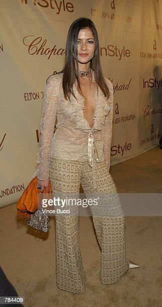 Actress Jill Hennessy attends the 10th Annual Elton John AIDS Foundation Oscar Party March 24 2002 in Los Angeles California