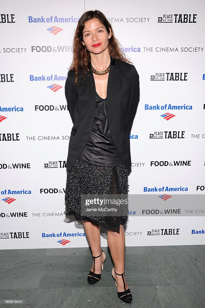 Actress Jill Hennessy attends the Bank of America and Food & Wine with The Cinema Society screening of 'A Place at the Table' at Museum of Modern Art on February 27, 2013 in New York City.