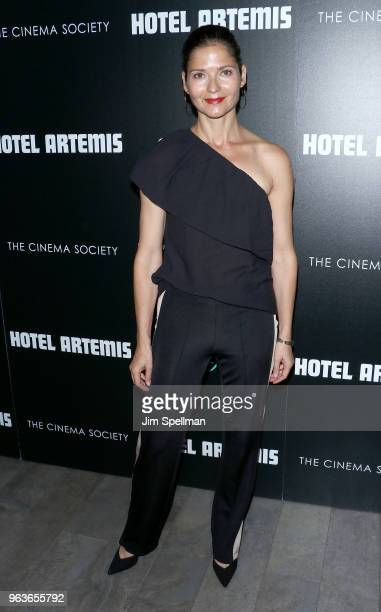 Actress Jill Hennessy attends the screening of Hotel Artemis hosted by Global Road Entertainment with The Cinema Society at the Quad Cinema on May 29...
