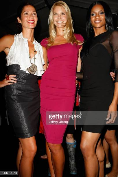 Actress Jill Hennessy Beth Ostrosky and singer Ciara attend Nicole Miller Spring 2010 during MercedesBenz Fashion Week at Bryant Park on September 11...