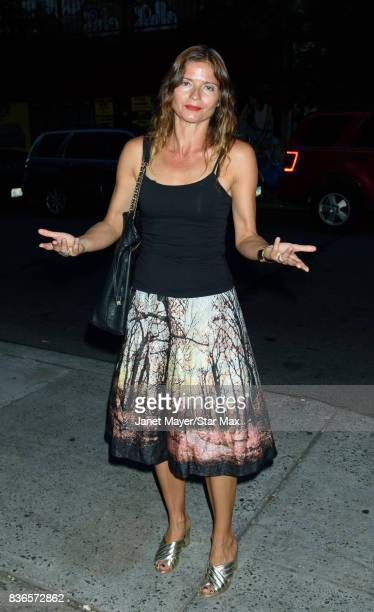 Actress Jill Hennessy is seen on August 21 2017 in New York City