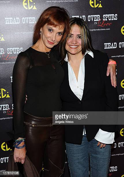 Actress Jill Jacobson and producer/director Ana Zins arrive at the world premiere of 'Head Over Spurs In Love' at Majestic Crest Theatre on March 24,...