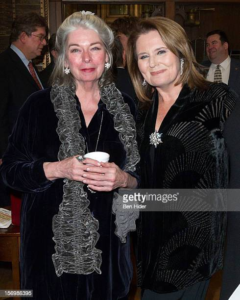Actress Jill O'hara and Producer Randie Levine-Miller attend Broadway & Cabaret Community Salute The Actors' Temple at The Actors Temple on November...