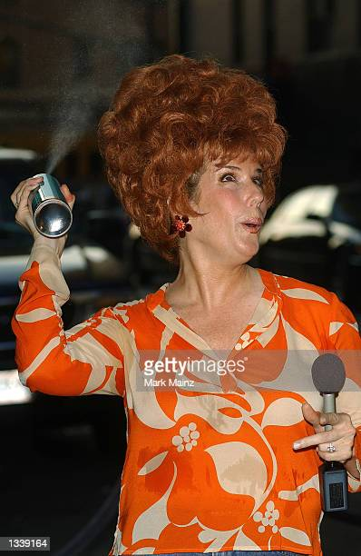 Actress Jill Rappaport arrives for the opening night of the Broadway musical 'Hairspray' August 15 2002 at the Neil Simon Theater in New York City