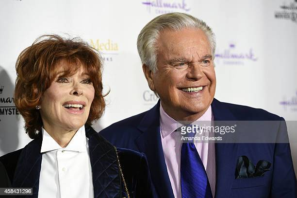 """Actress Jill St. John and actor Robert Wagner arrive at the Hallmark Channel's Holiday Christmas world premiere screening of """"Northpole"""" at La Piazza..."""