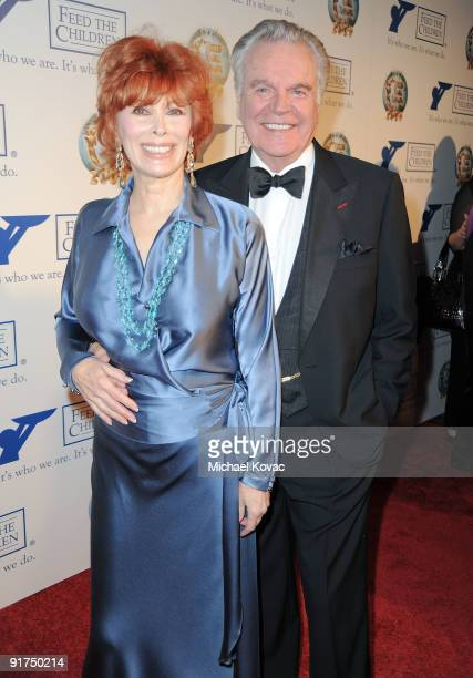 Actress Jill St John and Actor Robert Wagner host the 2009 World Magic Awards at The Barker Hanger on October 10 2009 in Santa Monica California