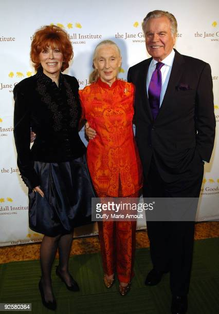 Actress Jill St John Dr Jane Goodall Founder of the Jane Goodall Institute and a UN Messenger of Peace and Actor Robert Wagner attend the Third...
