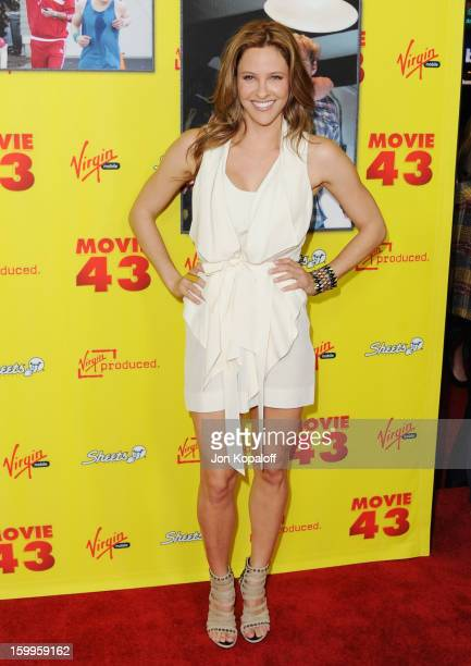 Actress Jill Wagner arrives at the Los Angeles Premiere 'Movie 43' at Grauman's Chinese Theatre on January 23 2013 in Hollywood California