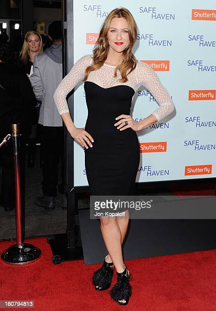 Actress Jill Wagner arrives at the Los Angeles Premiere 'Safe Haven' at TCL Chinese Theatre on February 5 2013 in Hollywood California