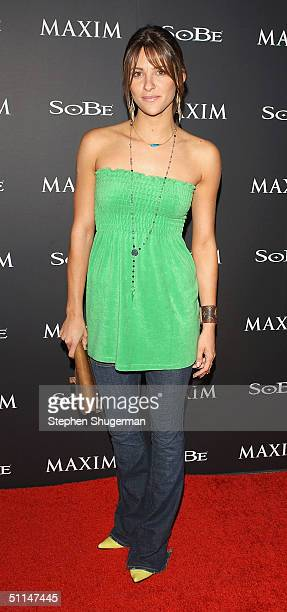 Actress Jill Wagner attends Maxim Magazine and Sobe's Tale Slide Party at Jim Henson Studios on August 5 2004 in Hollywood California