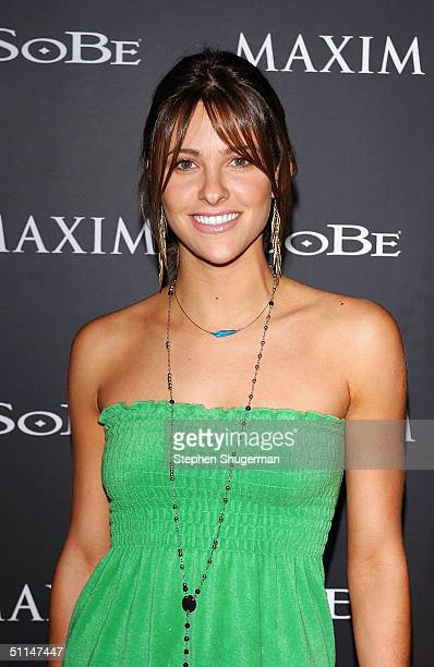 """Actress Jill Wagner attends Maxim Magazine and Sobe's """"Tale Slide"""" Party at Jim Henson Studios on August 5, 2004 in Hollywood, California."""