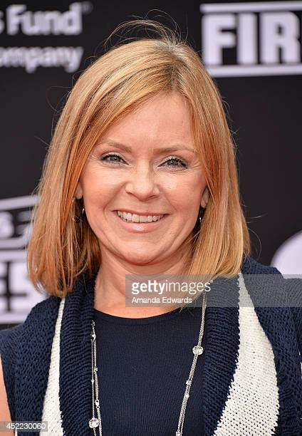 """Actress Jill Whelan arrives at the Los Angeles premiere of Disney's """"Planes: Fire & Rescue"""" at the El Capitan Theatre on July 15, 2014 in Hollywood,..."""