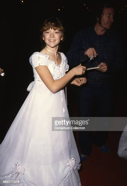 Actress Jill Whelan signs autographs at an event in circa 1979 in Los Angeles California