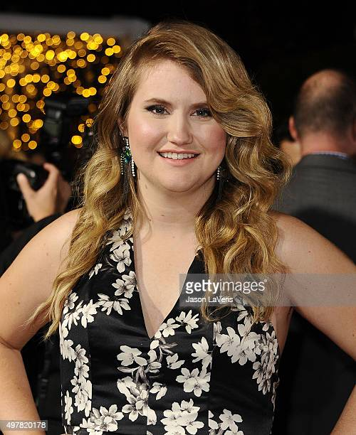 Actress Jillian Bell attends the premiere of The Night Before at The Theatre At The Ace Hotel on November 18 2015 in Los Angeles California