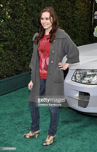 Actress Jillian Clare arrives at Chevy Rocks The Future at the Buena Vista Lot at The Walt Disney Studios on February 19 2008 in Burbank California
