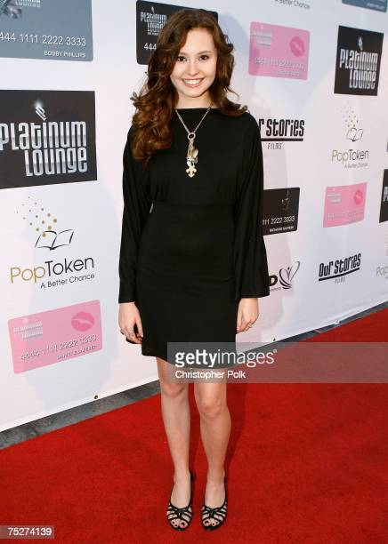 Actress Jillian Clare arrives at the Hollywood launch of PlatinumLounge.com at The Globe Theatre on July 7, 2007 in Los Angeles California.