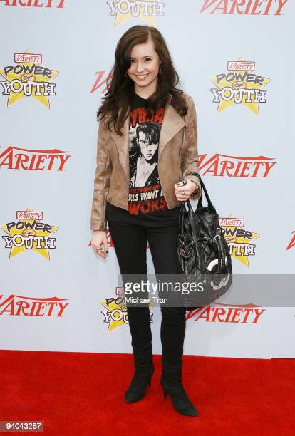 Actress Jillian Clare arrives to Variety's 3rd Annual 'Power of Youth' event held at the Paramount Studios backlot on December 5 2009 in Los Angeles...