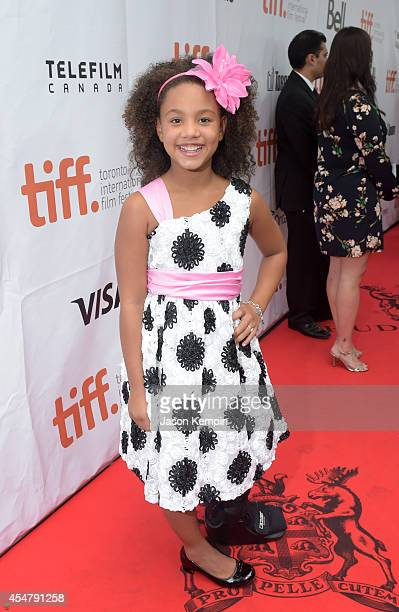 Actress Jillian Estell attends the Black And White premiere during the 2014 Toronto International Film Festival at Roy Thomson Hall on September 6...