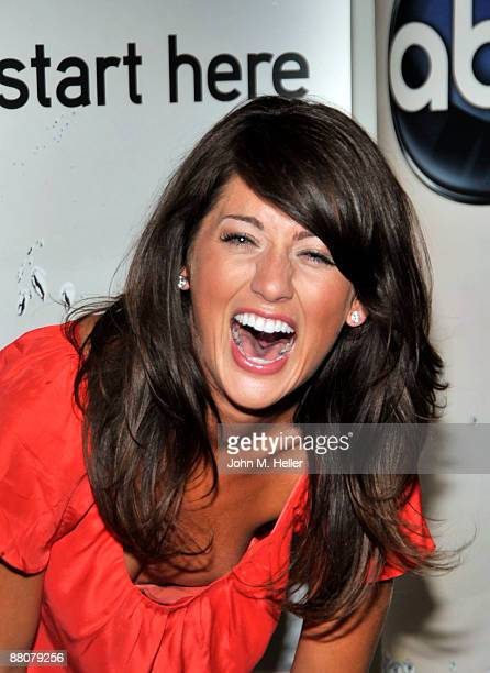Actress Jillian Harris from the television show The Bachelorette attends the 2009 Disney and ABC TV Summer Press Junket at the Walt Disney Studios...