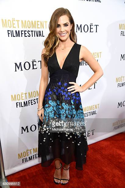 Actress Jillian Murray attends Moet Chandon Celebrates The 2nd Annual Moet Moment Film Festival and Kicks off Golden Globes Week at Doheny Room on...