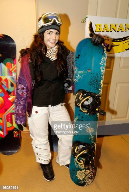 Actress Jillian Murray attends Oakley 'Learn To Ride' Snowboard fueled by Muscle Milk at Oakley Lodge on January 23 2010 in Park City Utah