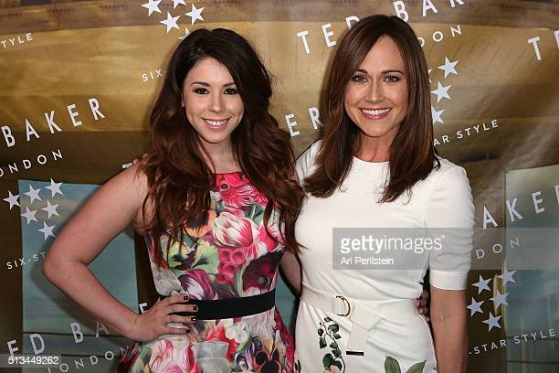 Actress Jillian Rose Reed and Actress Nikki DeLoach arrive at Ted Baker London SS'16 Launch Event at Sunset Tower Hotel on March 2 2016 in West...